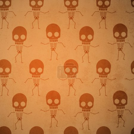 Vector background with skeletons.