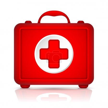 Illustration pour Trousse de premiers soins rouge. Vecteur - image libre de droit
