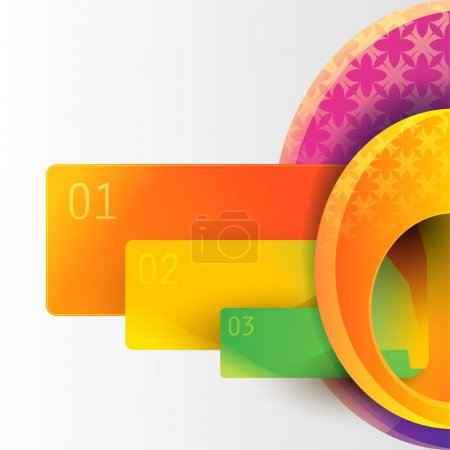 Illustration for Banners with numbers. Vector - Royalty Free Image