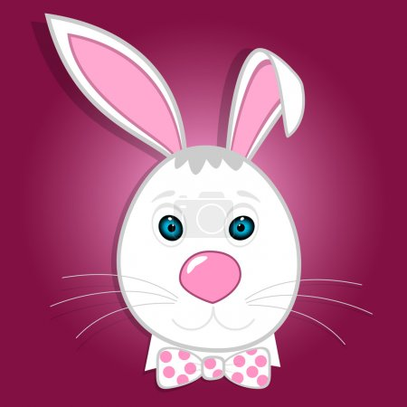 Illustration for Cute funny bunny. Vector illustration - Royalty Free Image