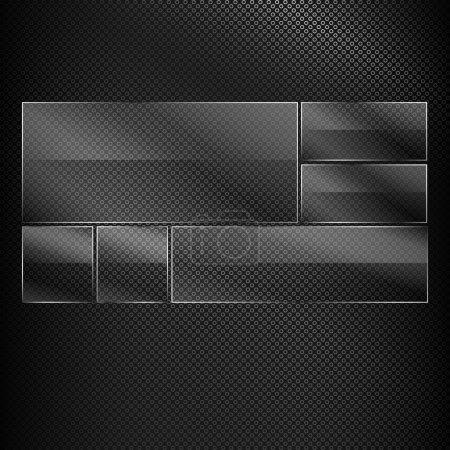 Photo pour Textures vectorielles noires, illustration vectorielle - image libre de droit