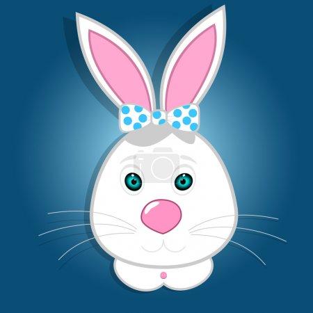 Illustration pour Mignon lapin drôle. Illustration vectorielle - image libre de droit