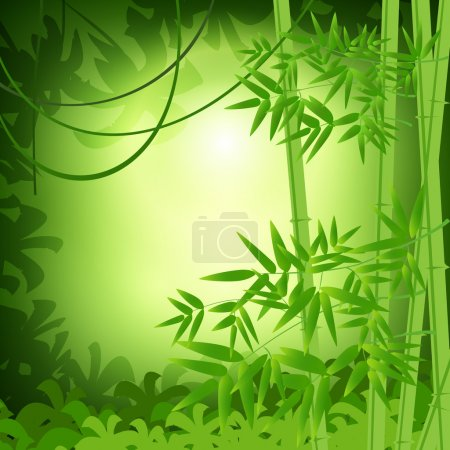 Illustration for Bamboo abstract background. Vector illustration - Royalty Free Image