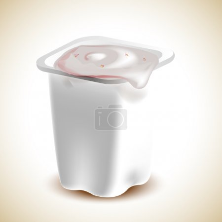 Illustration pour Un yaourt. Illustration vectorielle - image libre de droit