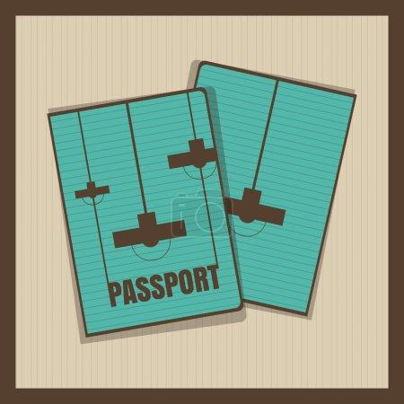 Illustration pour Couverture de passeport de lampe. Illustration vectorielle - image libre de droit
