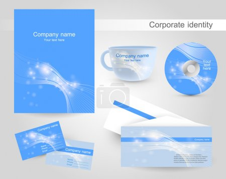 Illustration for Set of templates corporate identity - Royalty Free Image