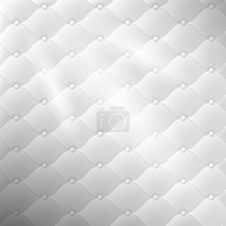 Grey leather pattern with round shapes and knobs. Vector illustration