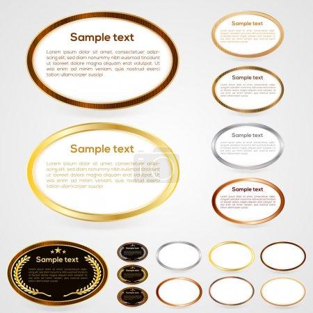 Illustration pour Ensemble de boutons web de forme ovale. Illustration vectorielle - image libre de droit