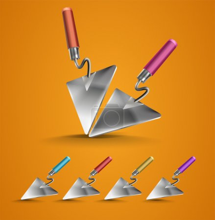 Set of Construction Trowel