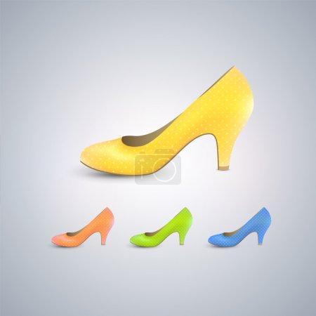 Elegant women's shoe - Vector icon