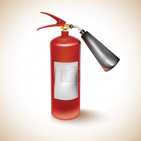 Illustration for Red Fire Extinguisher,  vector illustration - Royalty Free Image