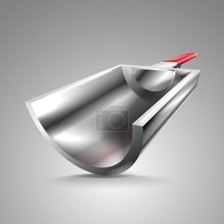 Illustration pour Cuillère métallique, illustration vectorielle - image libre de droit