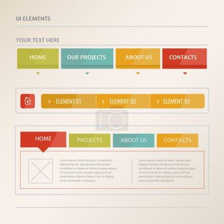 Illustration pour Éléments vectoriels de conception de site Web - image libre de droit