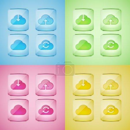 set cloud icons,  vector illustration