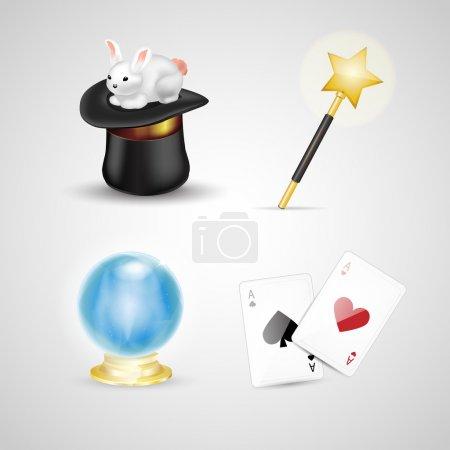 Magic accessories,  vector illustration