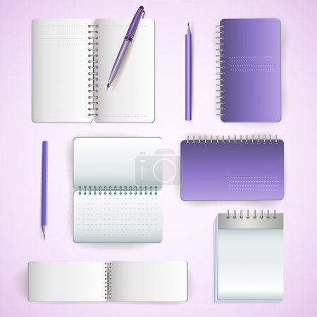 set of note paper
