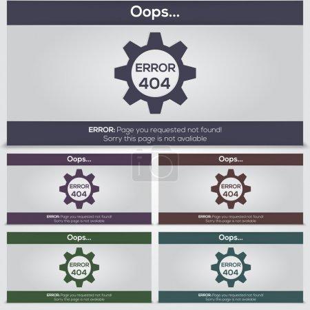 Photo pour Jeu d'icônes d'erreur vectorielles 404 pour le web - image libre de droit