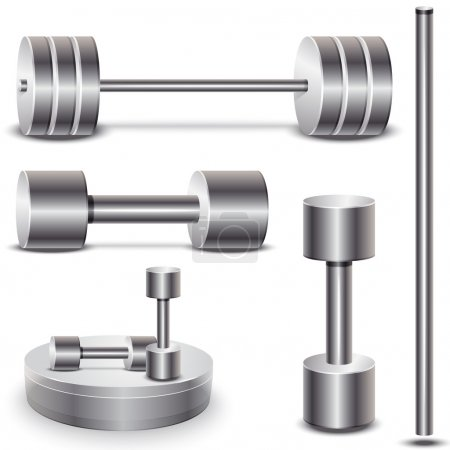 set of weights. vector illustration