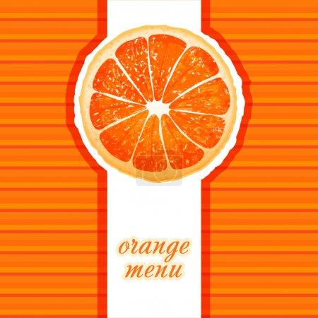 Illustration pour Menu orange, illustration vectorielle - image libre de droit