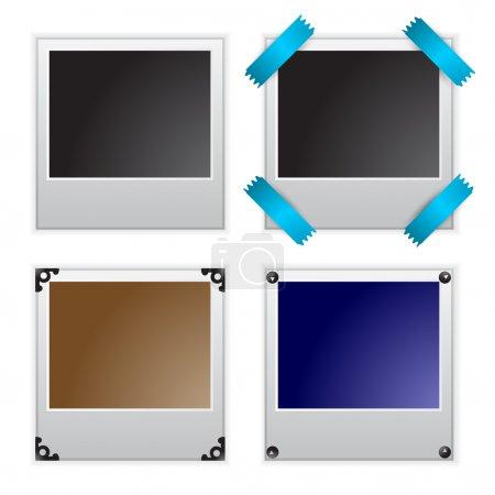 Vector illustration of polaroid photo frames
