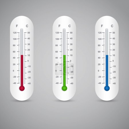 Thermometers set,  vector illustration