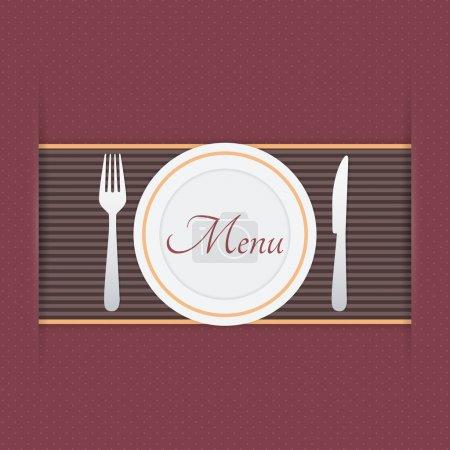 Illustration pour Fond de menu, illustration vectorielle - image libre de droit