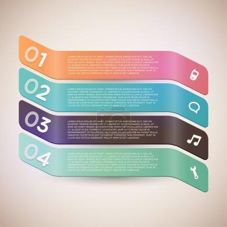 Illustration pour Bannières avec numéros, illustration vectorielle - image libre de droit