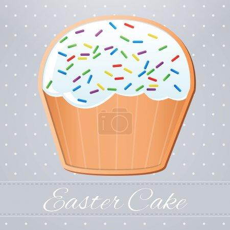 Easter cake,  vector illustration