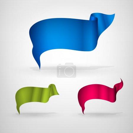 Illustration pour Bannières avec ruban, illustration vectorielle - image libre de droit