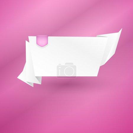Illustration pour Abstrait origami parole bulle vecteur fond - image libre de droit