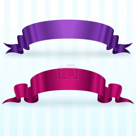Banners with ribbon,  vector illustration