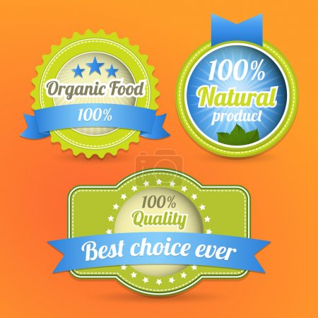 Illustration for Vector Eco Stamps and Labels. Eco Style. - Royalty Free Image