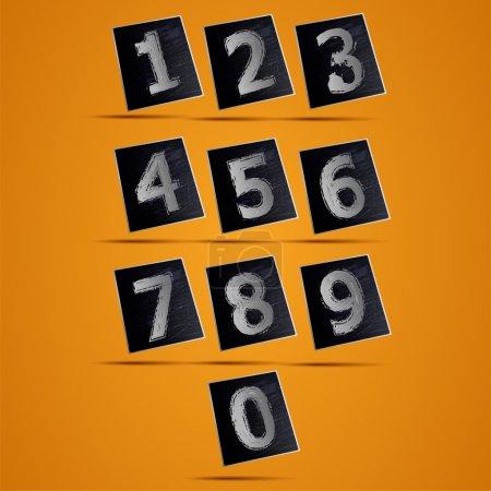 Illustration pour Numéro téléphone clavier vecteur illustration - image libre de droit
