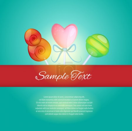 Sweet card. Vector illustration