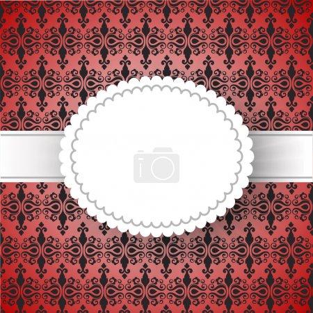 Illustration pour Modèle de cadre vintage. illustration vectorielle - image libre de droit