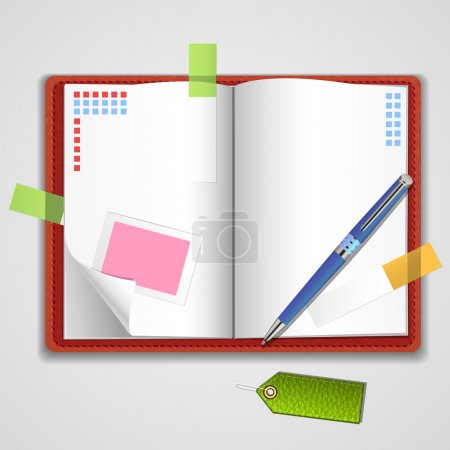 Illustration for Vector Notepad paper vector illustration - Royalty Free Image