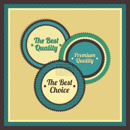 Collection of Premium Quality Labels with retro vintage styled design