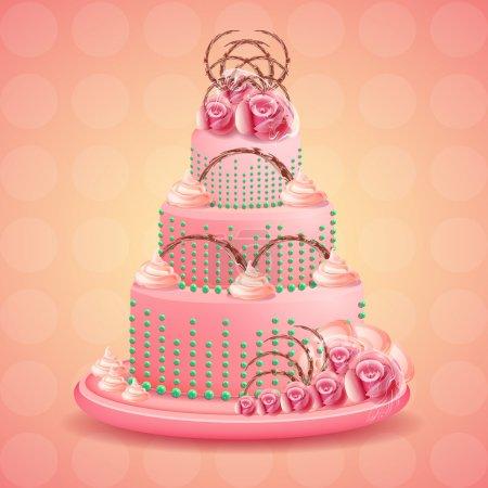 Illustration pour Illustration vectorielle gâteau d'anniversaire - image libre de droit