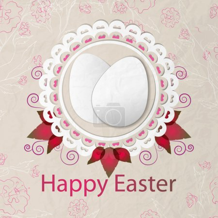 Happy Easter Background. Vector illustration