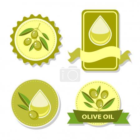 Illustration pour Icône d'huile d'olive vectorielle - image libre de droit