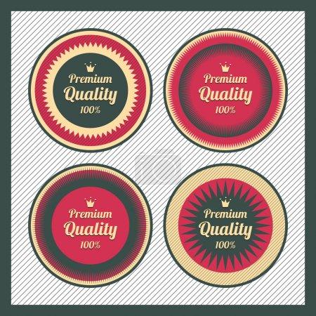 Illustration pour Collection d'étiquettes de qualité supérieure au design vintage rétro - image libre de droit