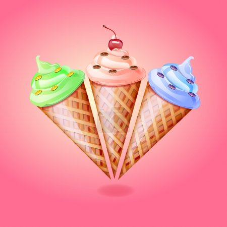 Ice cream cone, vector design