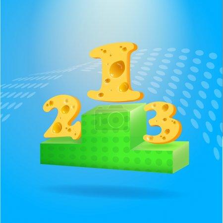 Illustration pour Un podium sportif. conception vectorielle - image libre de droit