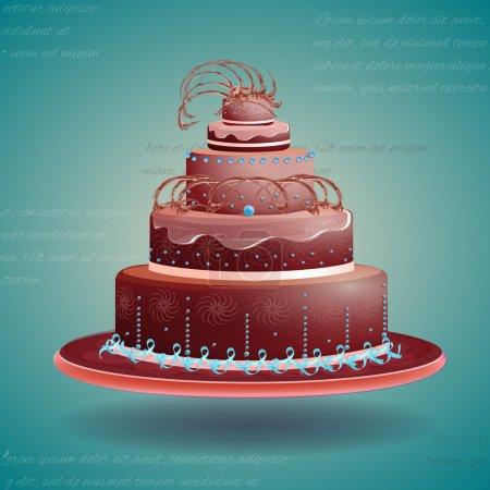 Illustration pour Gâteau d'anniversaire, design vectoriel - image libre de droit