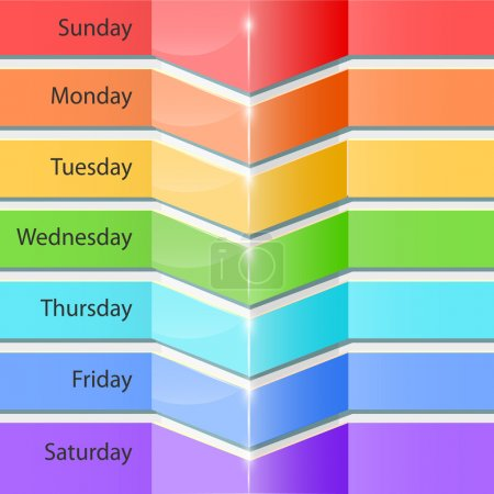 Illustration for Banners with days of the week - Royalty Free Image