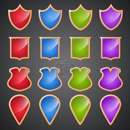 Illustration pour Bannières vectorielles brillantes, design vectoriel - image libre de droit
