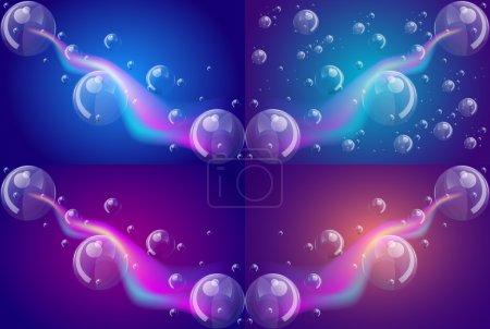 Illustration pour Fond abstrait lumineux avec bulles, illustration vectorielle - image libre de droit
