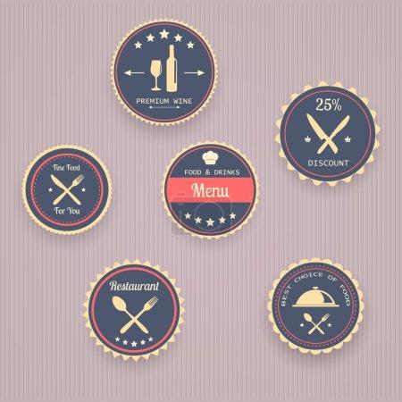 Illustration pour Icônes de menu, design vectoriel - image libre de droit