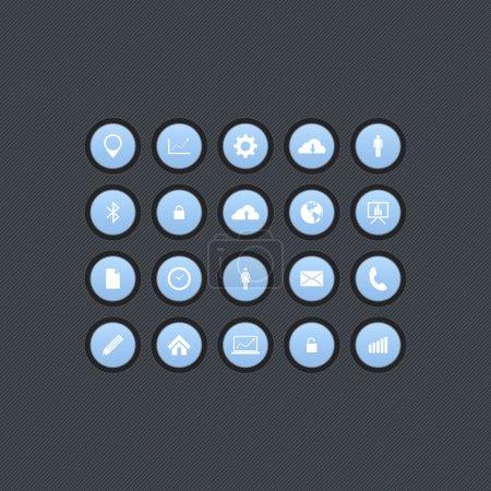 Illustration pour Ensemble d'icônes de bureau, design vectoriel - image libre de droit