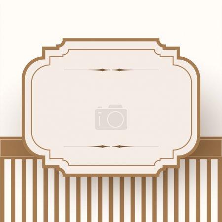 Illustration pour Modèle de cadre vintage, design vectoriel - image libre de droit